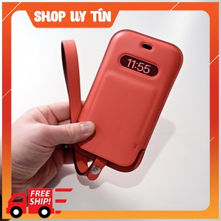 Bao da iphone 12 Magsafe iphone 12 pro max Leather Sleeve with MagSafe