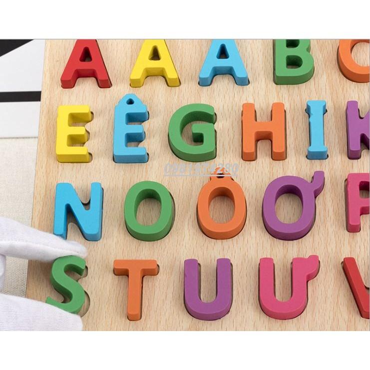 Bảng chữ cái tiếng việt bằng gỗ dày đẹp
