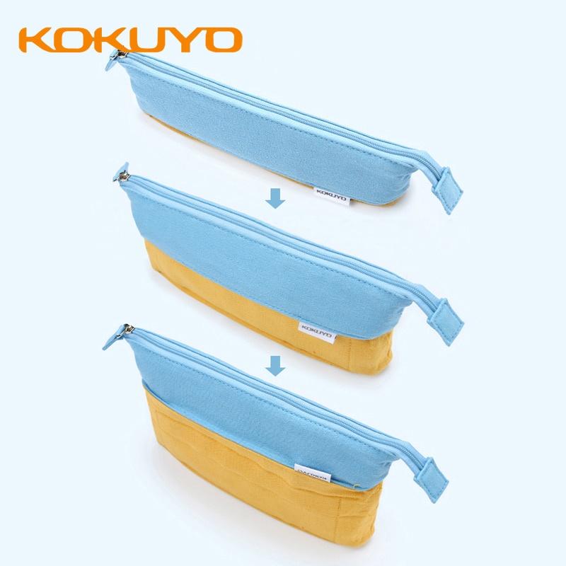 Kokuyo Túi Đựng Bút Bằng Vải Canvas Cỡ Lớn Đa Năng Thiết Kế Sáng Tạo