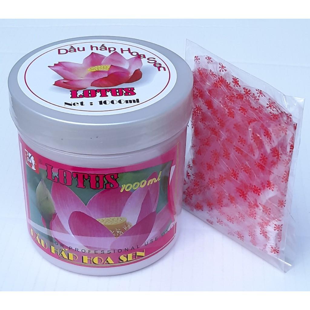 Kem ủ tóc phục hồi hư tổn Hoa Sen Lotus 1000ml