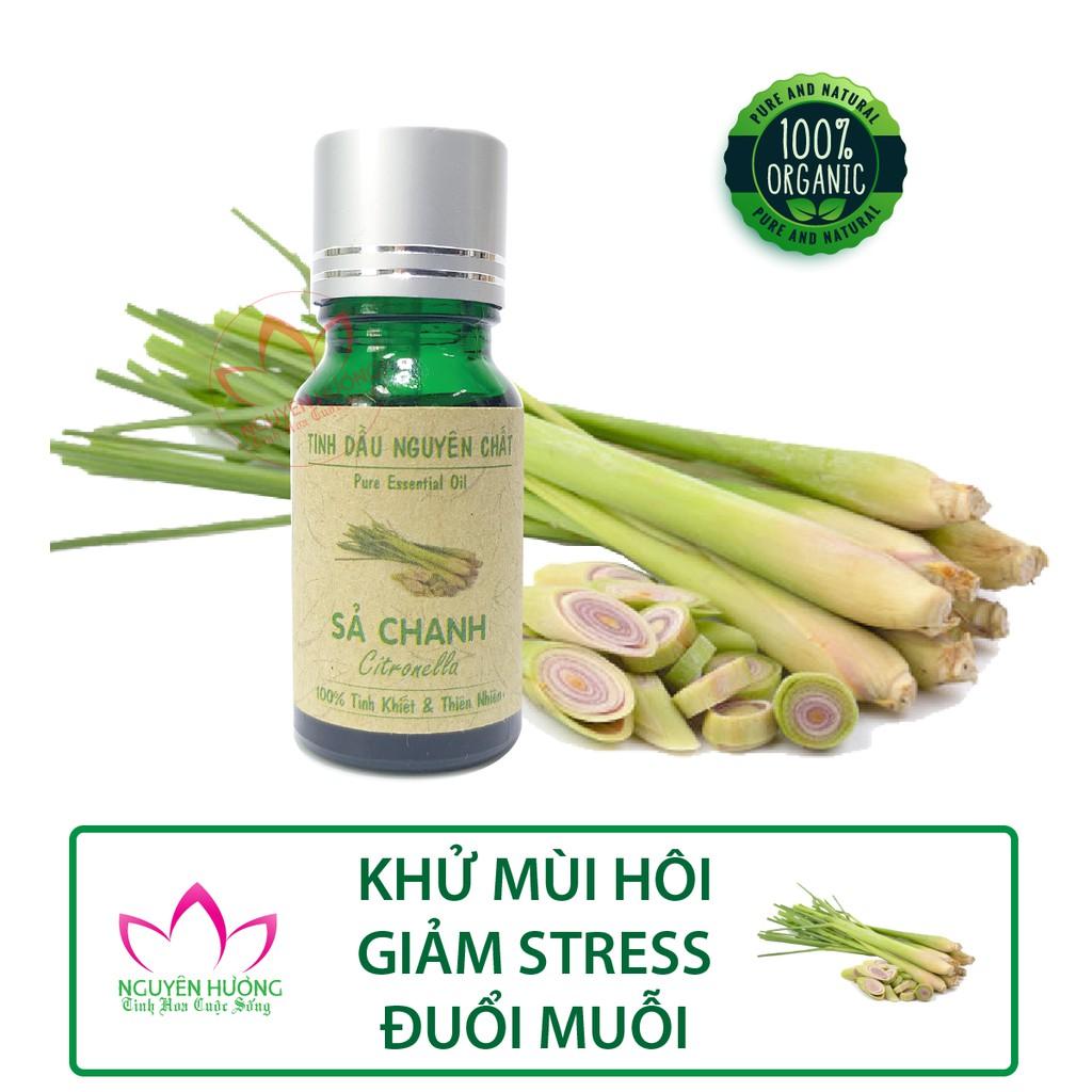Tinh Dầu Sả Chanh (Lemongrass) – 100% nguyên chất ( Treo xe, Xông thơm phòng )