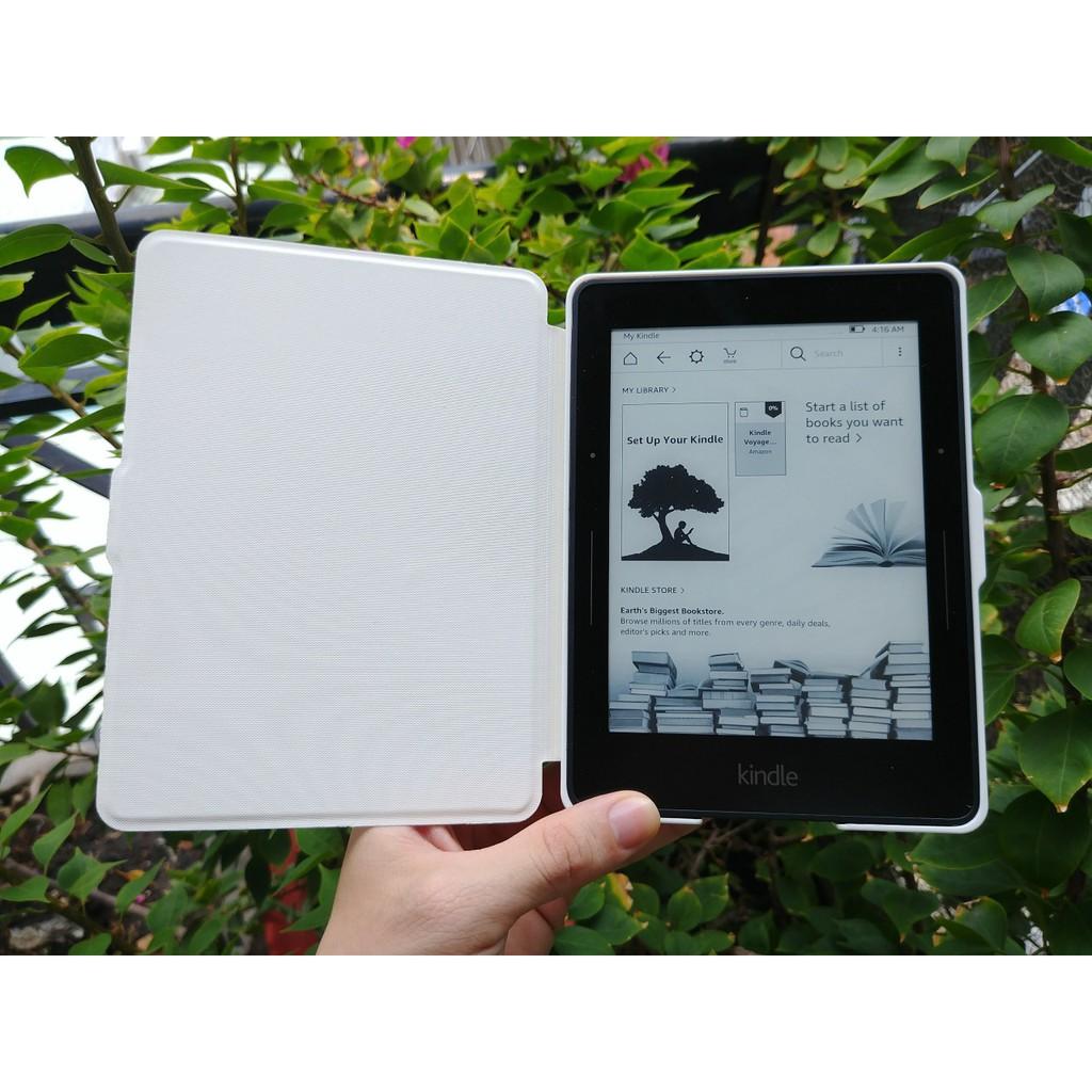 Máy đọc sách Amazon kindle voyage tặng cover new