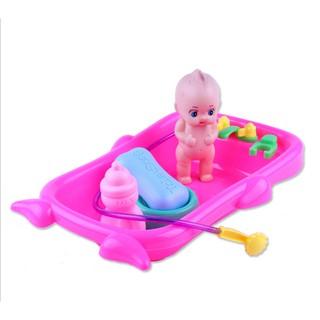 Bộ đồ chơi búp bê tắm cho bé