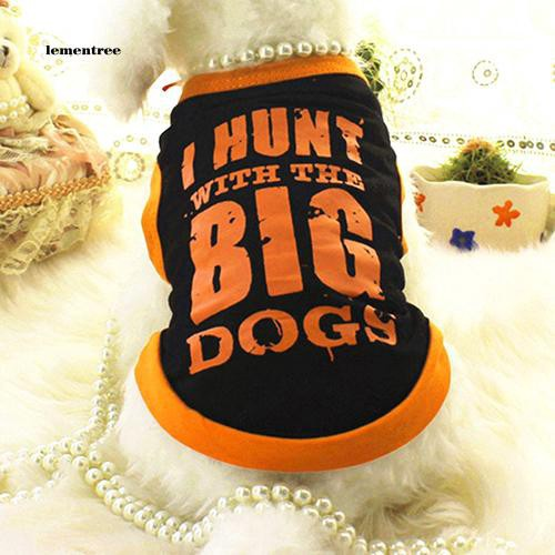[LE]Pet Dog Cosy Summer Vest Clothes Sports Style Big Letters T-shirt Tops Apparel