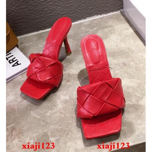 Giày Sandal Cao Gót Hoạ Tiết Ngôi Sao Trẻ Trung Quyến Rũ Có Size 35-41