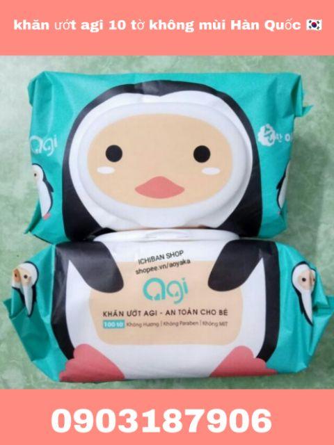 Yêu Thích[KHÔNG QUÀ ](Hàn Quốc) khăn ướt agi 100 tờ - không mùi