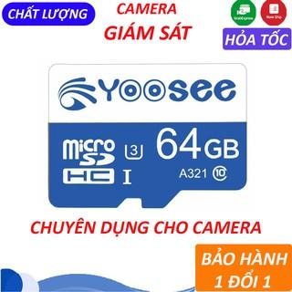 Thẻ nhớ 64GB Yoosee tốc độ cao - Thẻ nhớ chuyên dụng cho Camera IP wifi BH 12 tháng thumbnail