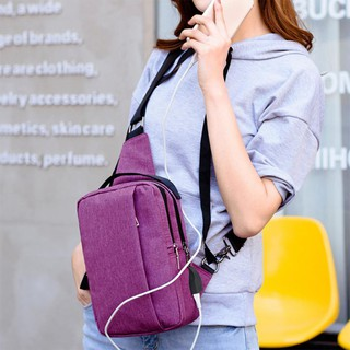 SFGHOUSE Fashion USB Charging Chest Pack Messenger Shoulder Bags