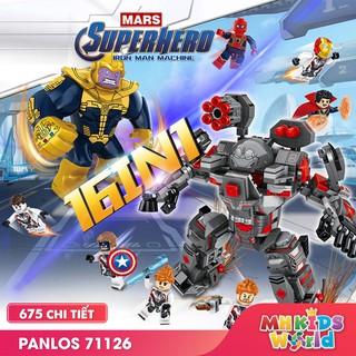 Bộ xếp hình Lego Panlos 71126 16 in 1 mô hình Iron Man Machine Lego Avengers ghép hình giúp trẻ phát triển trí tuệ thumbnail