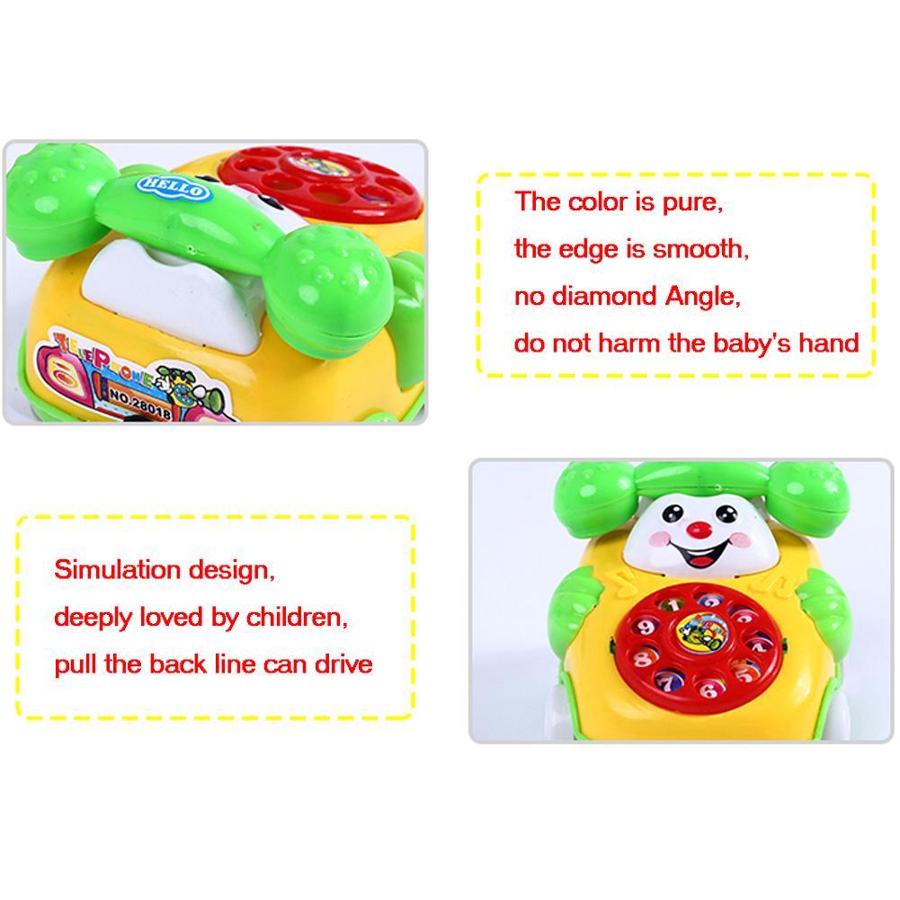 NEW HOT SALES Baby Kids Cute Educational Developmental Cartoon Smile Face Toy Phone Car