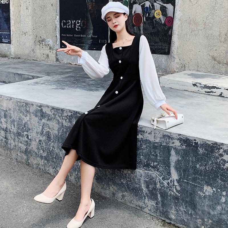 giày nữ mũi vuông gót thấp thời trang hàn