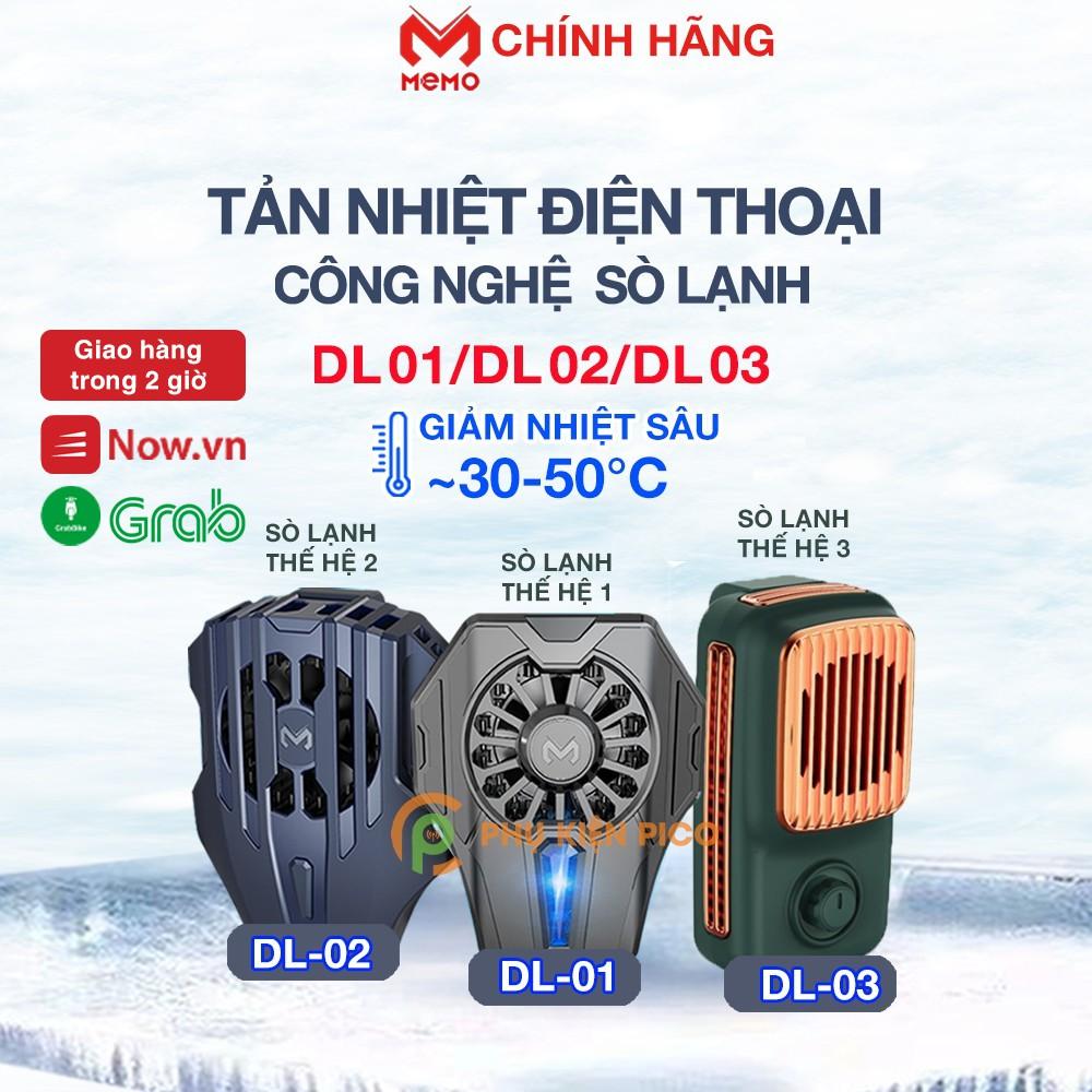 Quạt tản nhiệt Memo DL02/DL01/DL03 - Quạt tản nhiệt điện thoại FL01/FL05/AK03 Quạt máy tính bảng AKpad6K