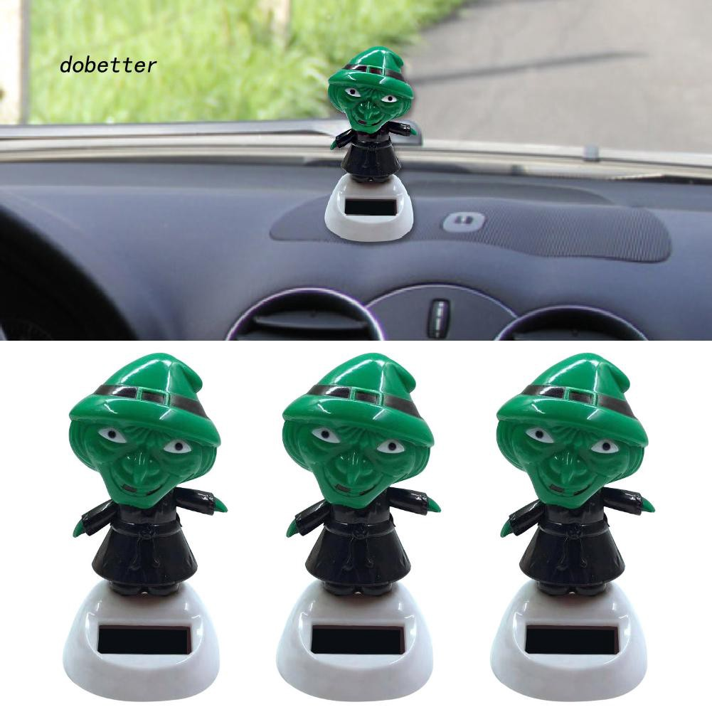 DOBT_Solar Power Cartoon Swinging Witch Car Interior Ornament Home Decor Toy Gift