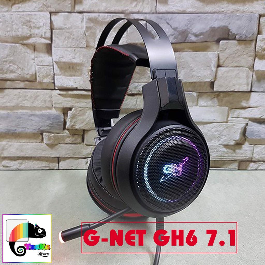 Tai nghe Gaming G-Net GH6 7.1 USB Led RGB I Head phone GNET GH6 âm thanh 7.1 RGB LED
