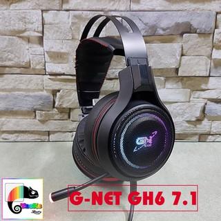 [Mã ELFLASH3 hoàn 10K xu đơn 20K] Tai nghe Gaming G-Net GH6 7.1 USB Led RGB I Head phone GNET GH6 âm thanh 7.1 RGB LED