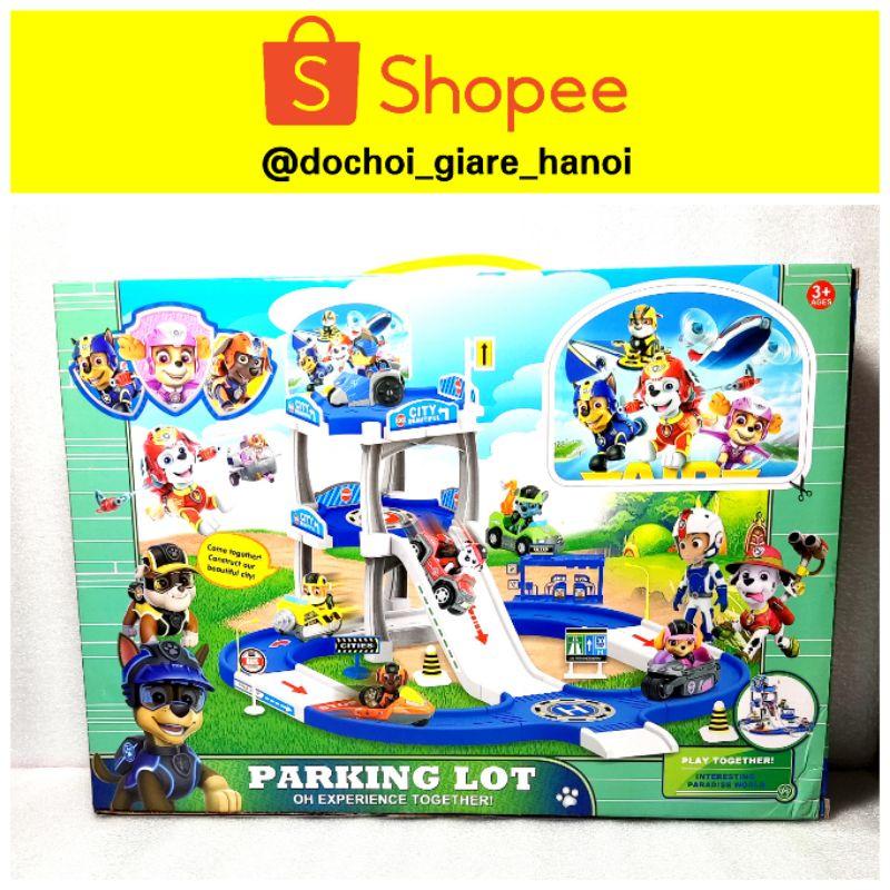 Chó Cứu Hộ Paw Patrol đồ chơi Hộp 4 nhân vật kèm cầu trượt cho bé