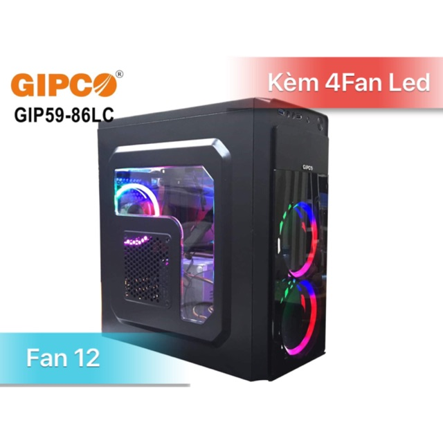 Vỏ Case Game Gibco kèm 4Fan Led