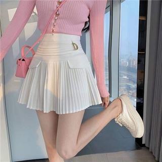 Chân váy xếp ly cạp cao dáng ngắn