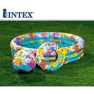 bể Bể bơi bơm intex 3 chi tiết. 132x28cm