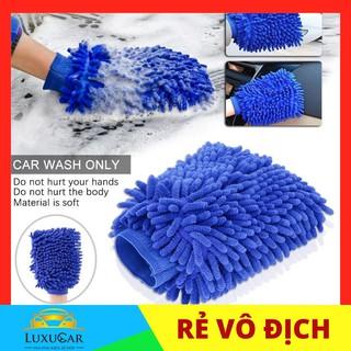 Găng tay, bao tay san hô chuyên dụng Microfiber siêu mịn tiện dụng chùi rửa xe hơi,oto,xe máy thumbnail