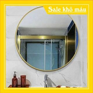 Gương treo viền kim loại sơn tích điện cao cấp D50 D60