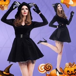 Trang Phục Halloween Hình Mèo Đen