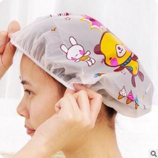 Mũ trùm tóc khi tắm viền chun HOẠT HÌNH - giao họa tiết ngẫu nhiên thumbnail