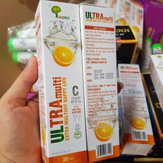 Combo 2 tuýp viên sủi Multivitamins, Vitamin C1000 mg