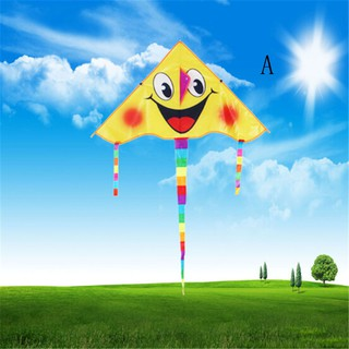 ☆VN Huge 80cm Smile Face Single Line Novelty Expression Kites Children's Gift Toys