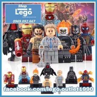 Xếp Hình Ulysses Klaw Ghost Rider Iron Man Red Skull Spider Man Everett Ross Black Panther Lego Minifigures Xinh X0221 thumbnail