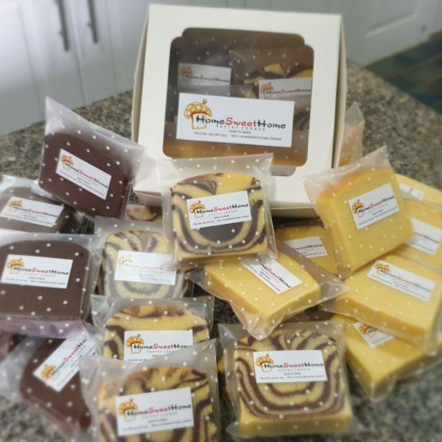 บัตเตอร์เค้ก-มาร์เบิลเค้ก-ช็อคเค้ก-เค้กกล้วยหอม-กาแฟ HomeSweetHome pastry corner
