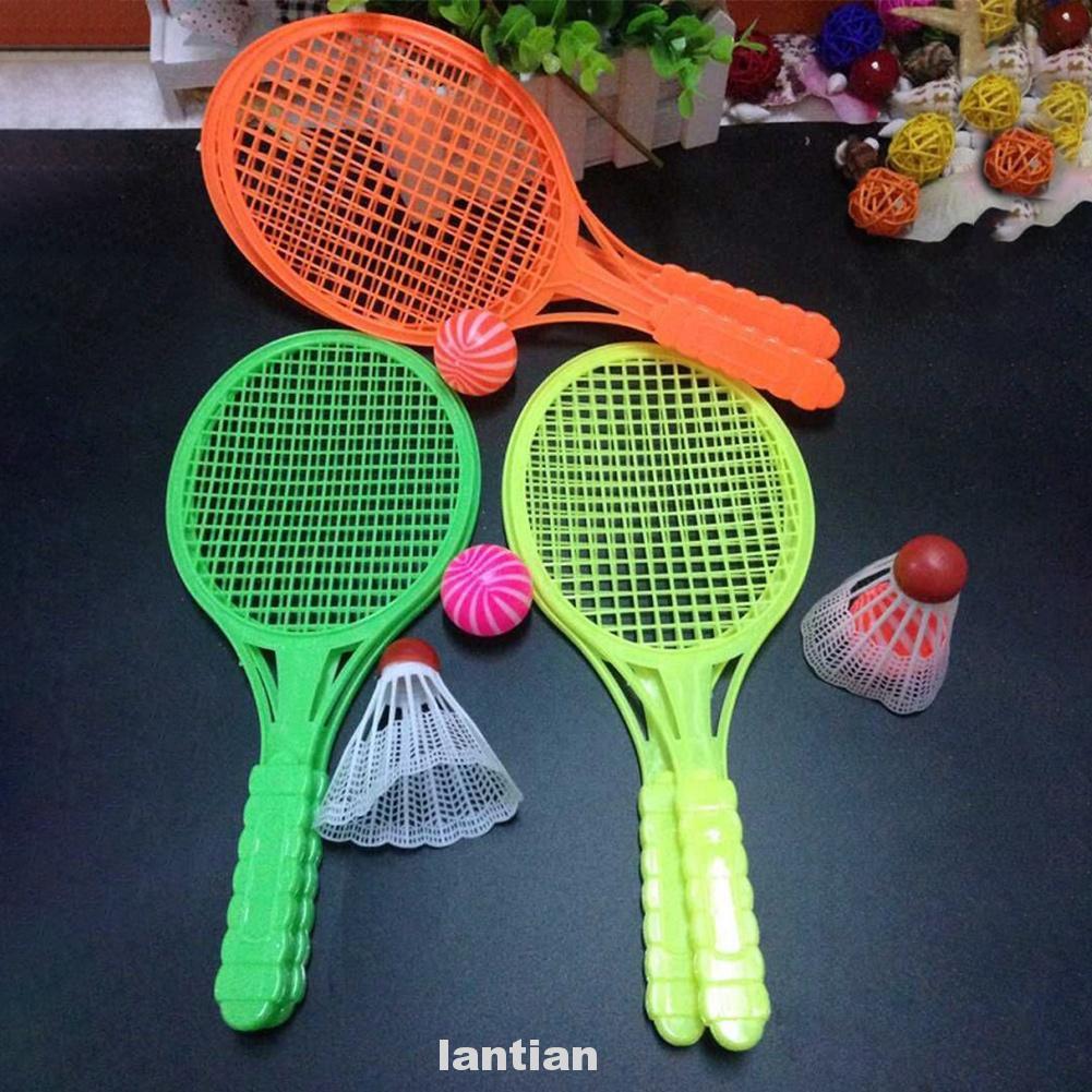 4pcs Doing Exercise Tennis Racket Outdoor Toy Badminton Kit