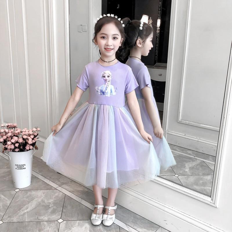 Đầm công chúa Elsa dễ thương dành cho bé gái 13-38kg
