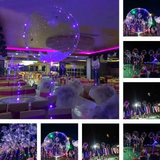 """18"""" LED String Light With Transparent Helium Balloons Christmas Wedding Party Decor - hình 1"""