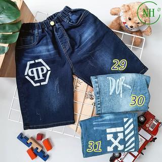 Quần short cho bé 30kg đến 50kg – quần short jean co giãn – NH Kids Shop