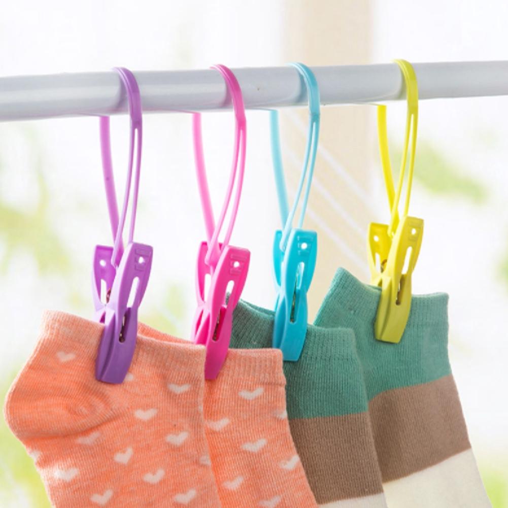 Household multifunctional plastic windbreak clips socks fixation clamp underwear clip