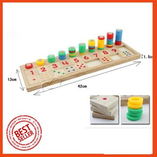 [RẺ NHẤT] Bảng số Montessori bằng gỗ cho bé học đếm