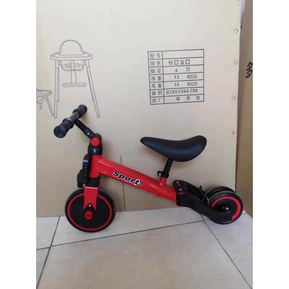 [RẺ NHẤT SHOPEE]Xe chòi Sport 3 trong 1 Xe chòi chân 3 bánh thăng bằng kết hợp xe đạp cho bé