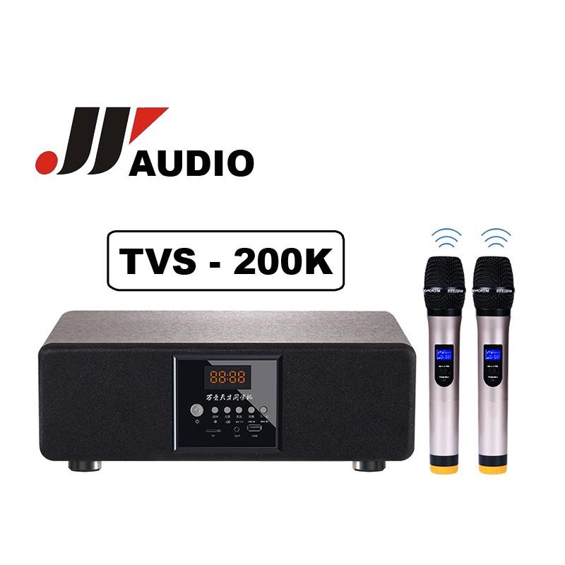 Loa bluetooth âm thanh sống động JYAUDIO TVS - 200K - Tặng kèm ngay 2 Micro không dây cao cấp