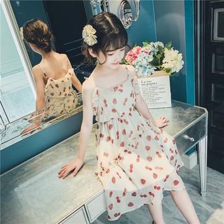 Váy bé gái dự tiệc hai dây kiểu hàn [13-38kg]