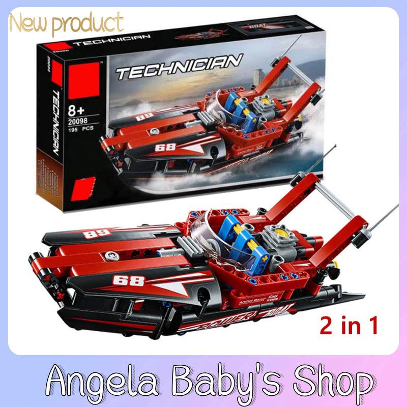 Lepin 20098 technology speedboat compatible with LEGO 42089 mechanical series as