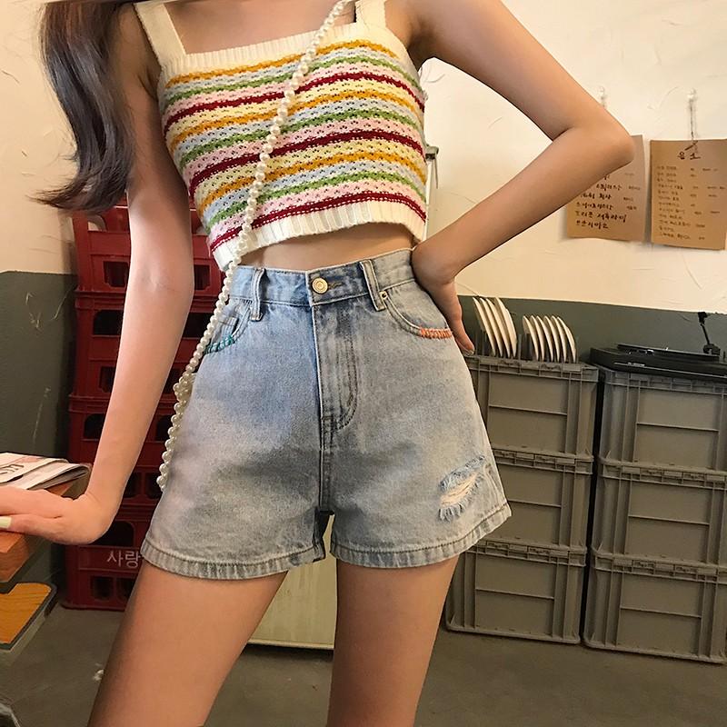 Quần short jean ống rộng lưng cao khoe dáng gợi cảm thời trang nữ trẻ trung - 14308879 , 2451756916 , 322_2451756916 , 391000 , Quan-short-jean-ong-rong-lung-cao-khoe-dang-goi-cam-thoi-trang-nu-tre-trung-322_2451756916 , shopee.vn , Quần short jean ống rộng lưng cao khoe dáng gợi cảm thời trang nữ trẻ trung