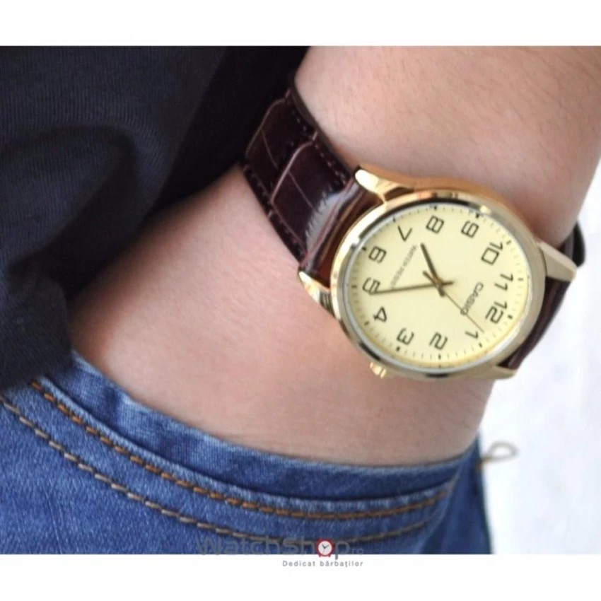 Đồng hồ nam dây da Casio chính hãng Anh Khuê MTP-V001GL-9BUDF