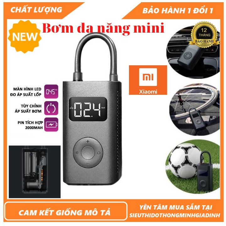 Bơm cầm tay mini đa năng Xiaomi Mijia Bicycle Pump MJCQB01QJ,bơm lốp xe ôtô,xe hơi,xe đạp,xe máy/Bơm cầm tay đa năng