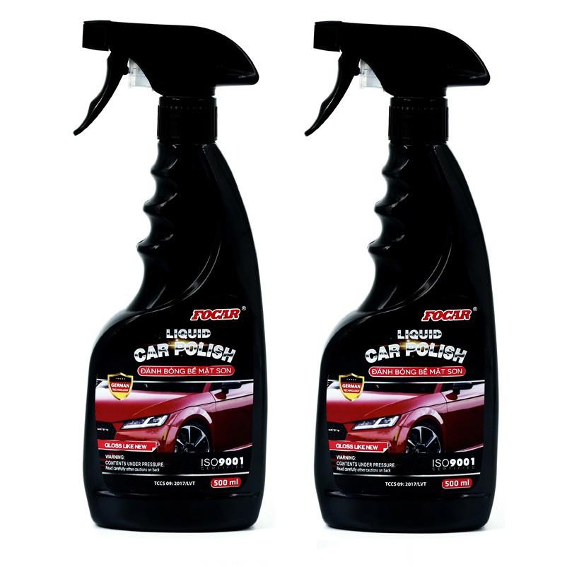 Bộ 2 chai dưỡng bóng bề mặt sơn Liquid car polish 500ml
