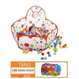 Nhà banh Cho bé (tặng kèm 100 bóng nhựa)