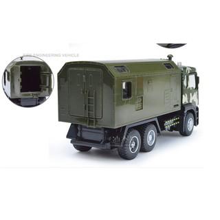 Xe tải quân sự bằng sắt mô hình đồ chơi ô tô trẻ em