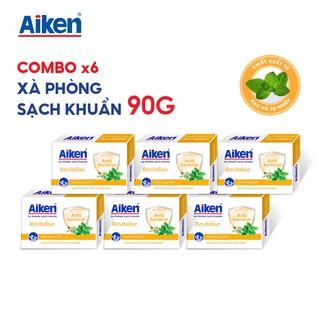 Aiken Combo 6 Xà Phòng Sạch Khuẩn Chiết Xuất Bạc Hà 90G hộp thumbnail