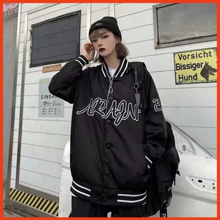Áo khoác dù bomber KD24, áo khoác Ulzzang WIND đen, oversize