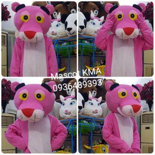 Quần áo hoá trang Mascot Báo hồng – sinh nhật, sự kiện